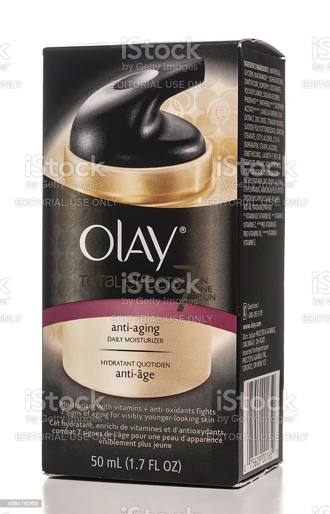 Olay total effects anti-aging daily moisturizer royalty-free stock photo