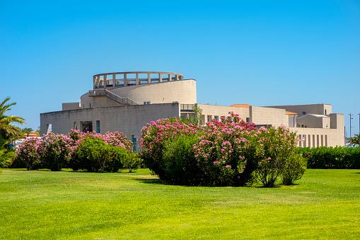 Olbia, Sardinia, Italy - Archeological Museum of Olbia at the port area