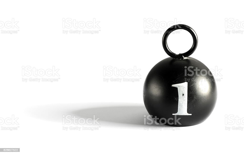 Old 1 kilogram counterpoise weight stock photo