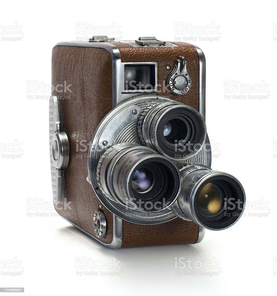 Old 16mm video camera royalty-free stock photo