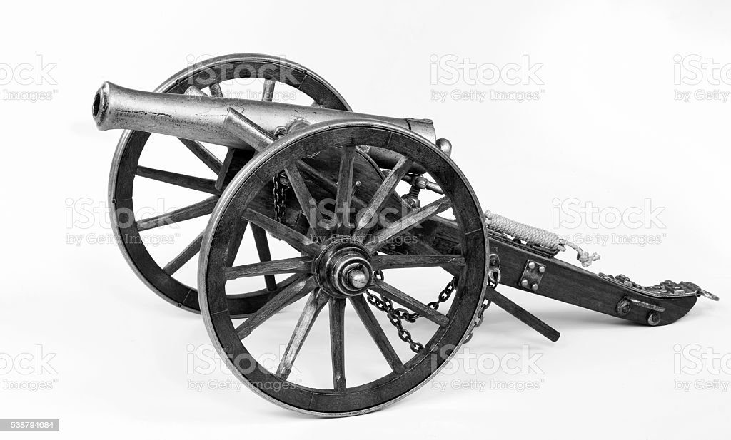 Old 1863 Dahlgren Cannon. stock photo