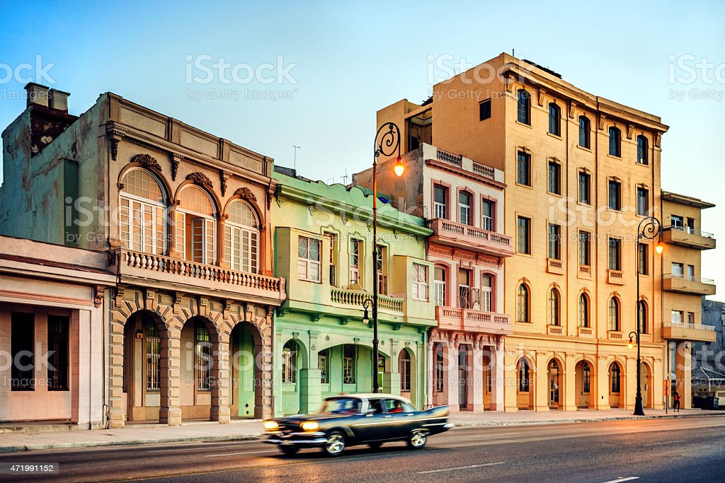 Old 1950s Car on Havana street, Cuba stock photo