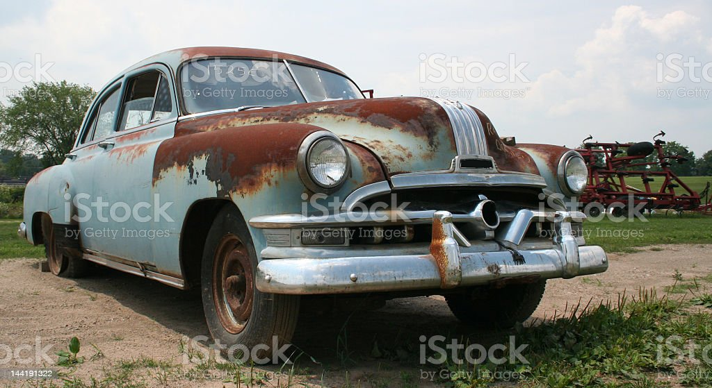 Old 1950's car royalty-free stock photo