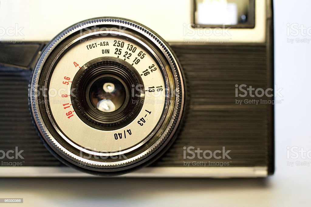 Old 35mm camera royalty-free stock photo