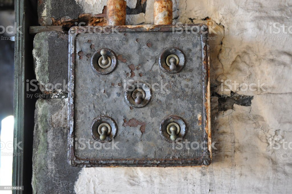 Old 5 Gang Industrial Light Switch Stock Photo & More Pictures of ...