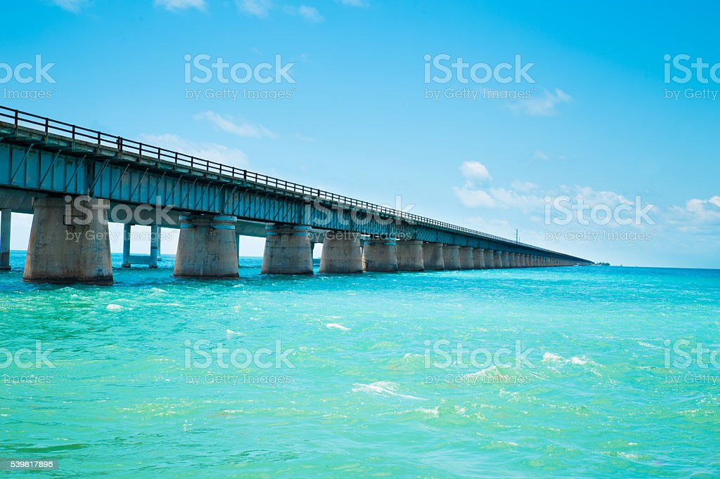 Old 7 Mile Bridge stock photo