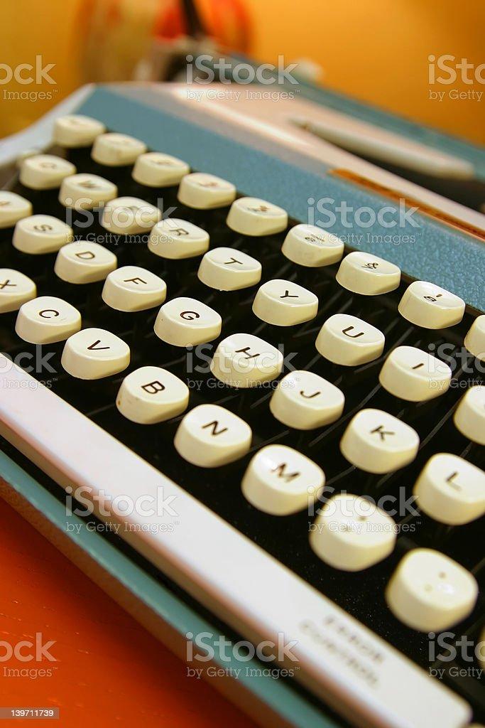 Old 70's Typewriter royalty-free stock photo