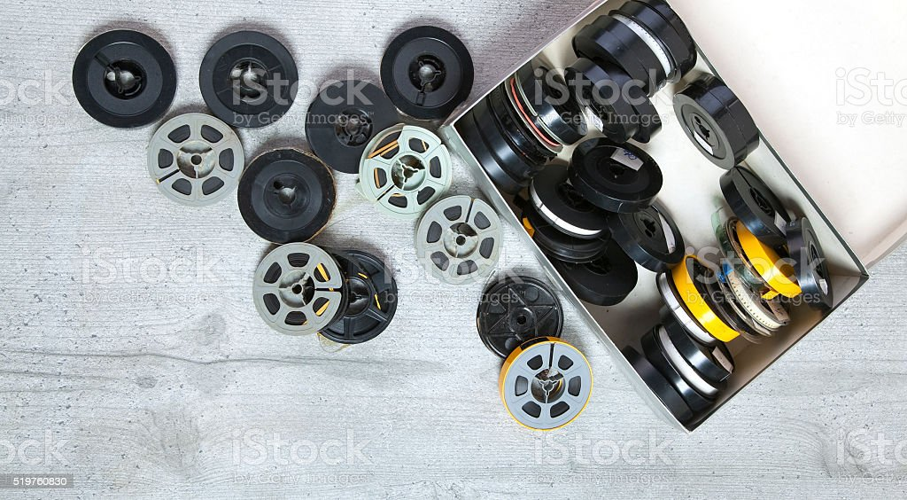 Old 8 mm and Super8 stock photo