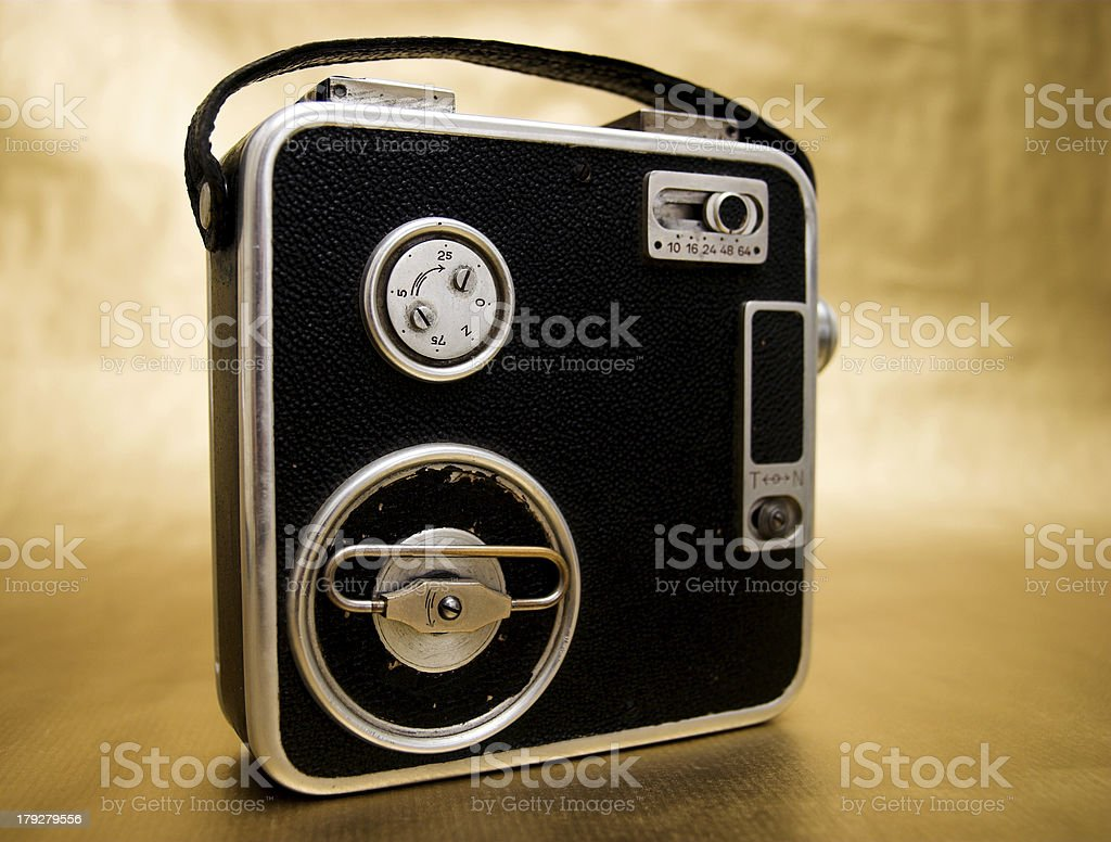 Old 8mm Film Camera royalty-free stock photo