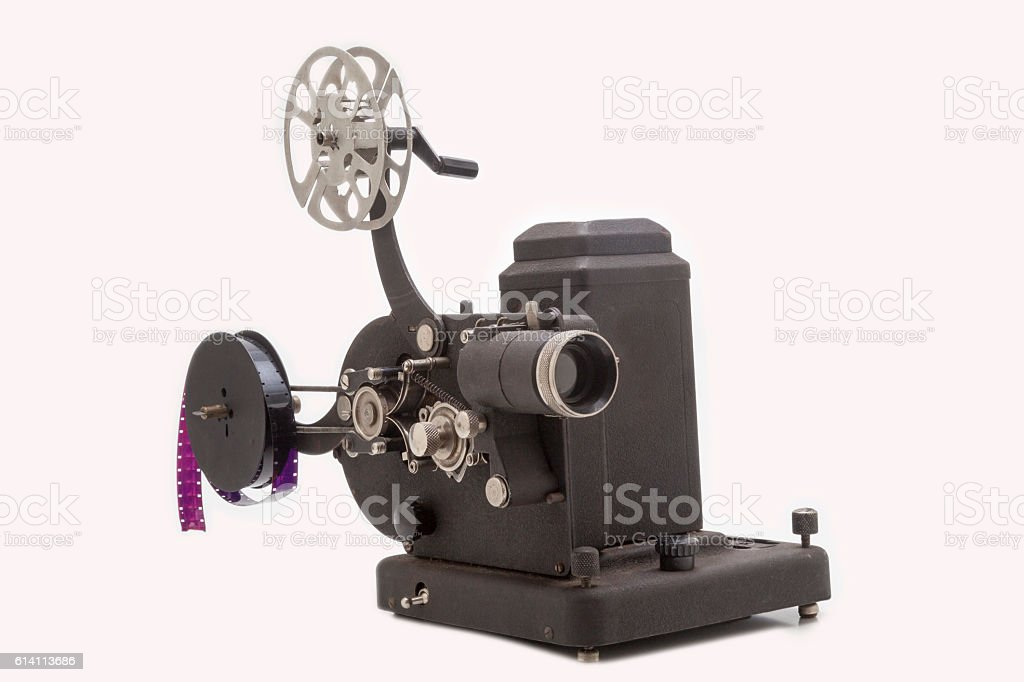 Old 8mm projector stock photo