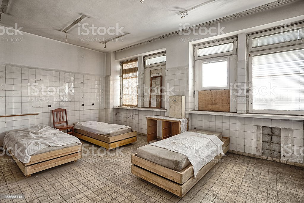 Old, abandoned and forgotten building stock photo
