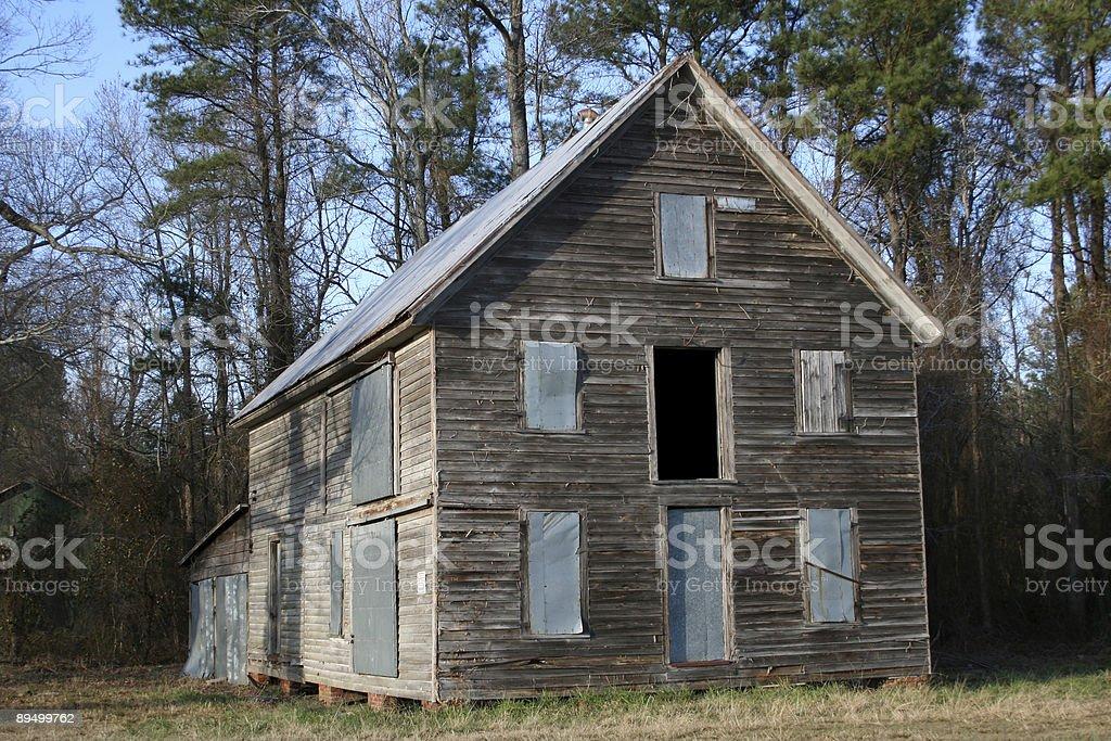 Old Abandoned Barn royaltyfri bildbanksbilder