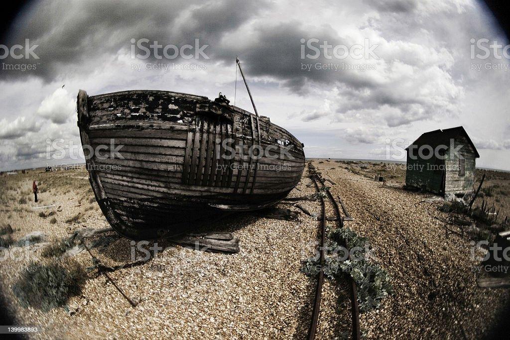 Old Abandoned Boat royalty-free stock photo