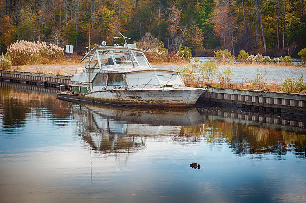 Old Abandoned Boat stock photo