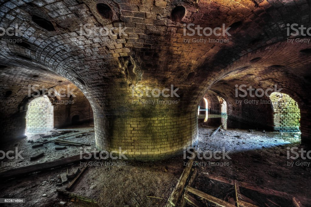 Old abandoned brickyard - Lost Places stock photo