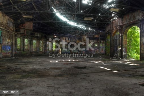 istock Old abandoned building in East Germany 502663297
