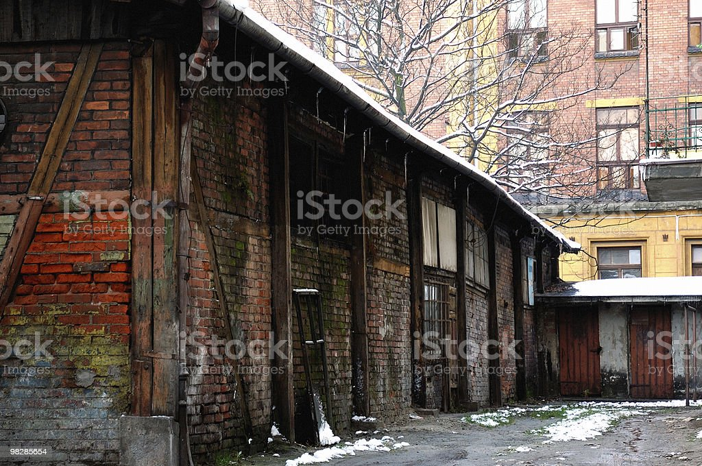 Old abandoned building in Krakow royalty-free stock photo