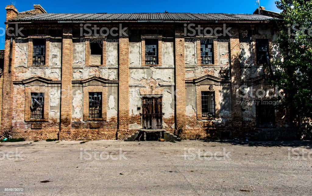 Old abandoned building stock photo