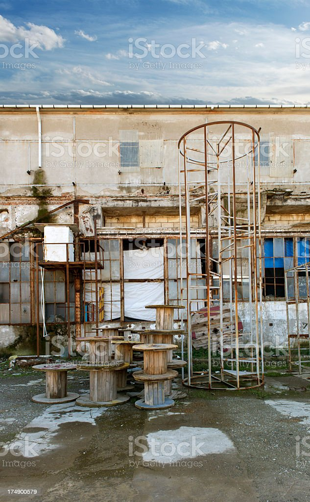 Old Abandoned Factory Building royalty-free stock photo