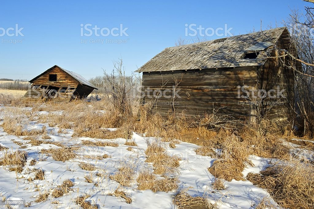 old abandoned farm buildings leaning shed stock photo more