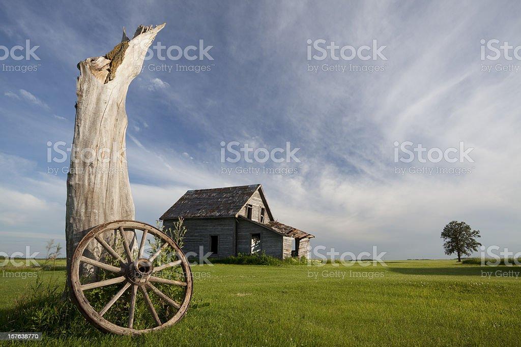 Old Abandoned Farm House royalty-free stock photo