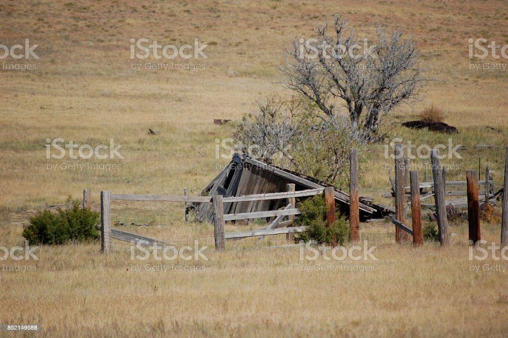 Old Abandoned Farm stock photo