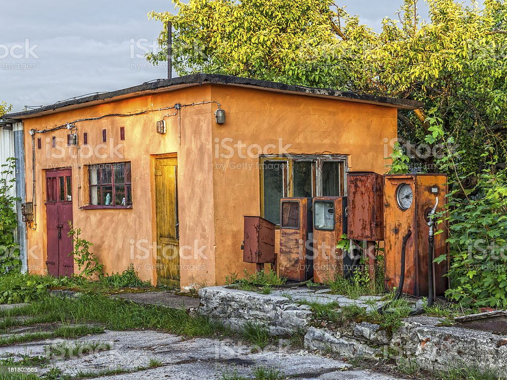 Old Abandoned Gas Station Stock Photo Download Image Now Istock