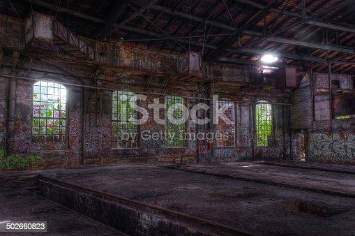 istock Old abandoned hall 502660823