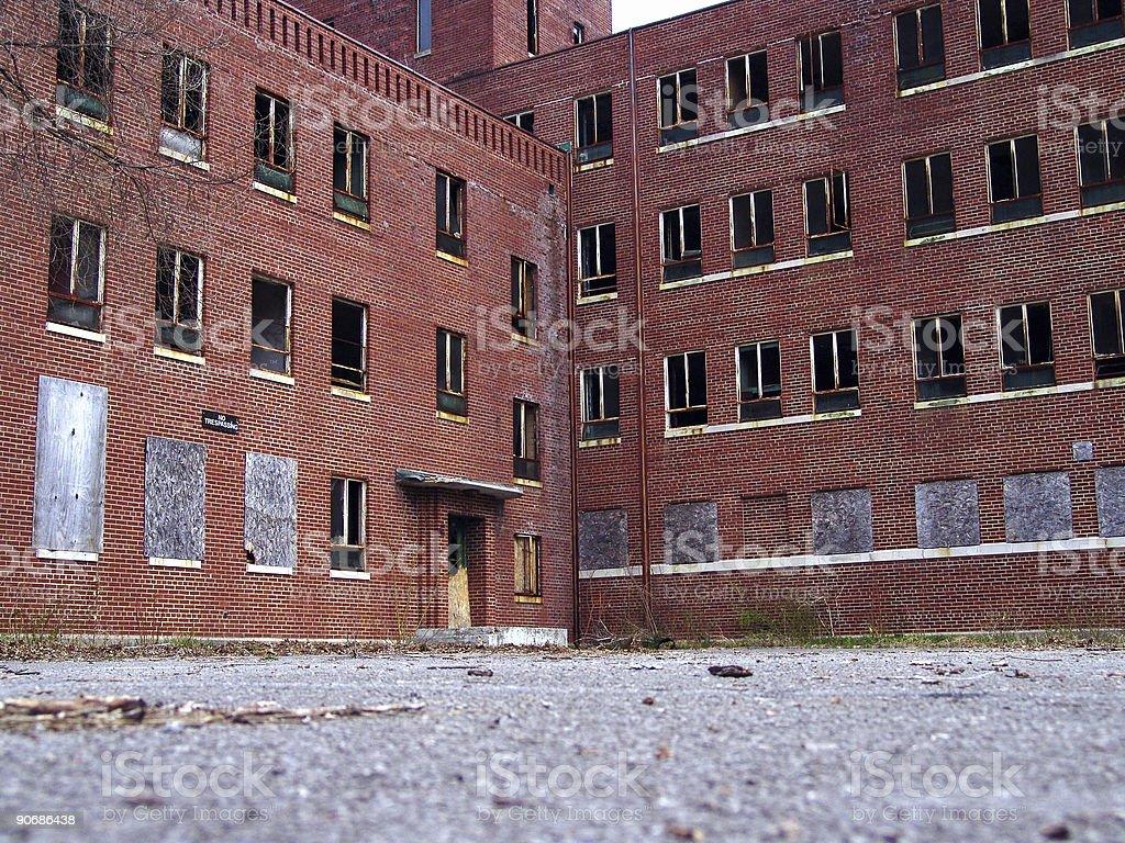 Old Abandoned Hospital royalty-free stock photo