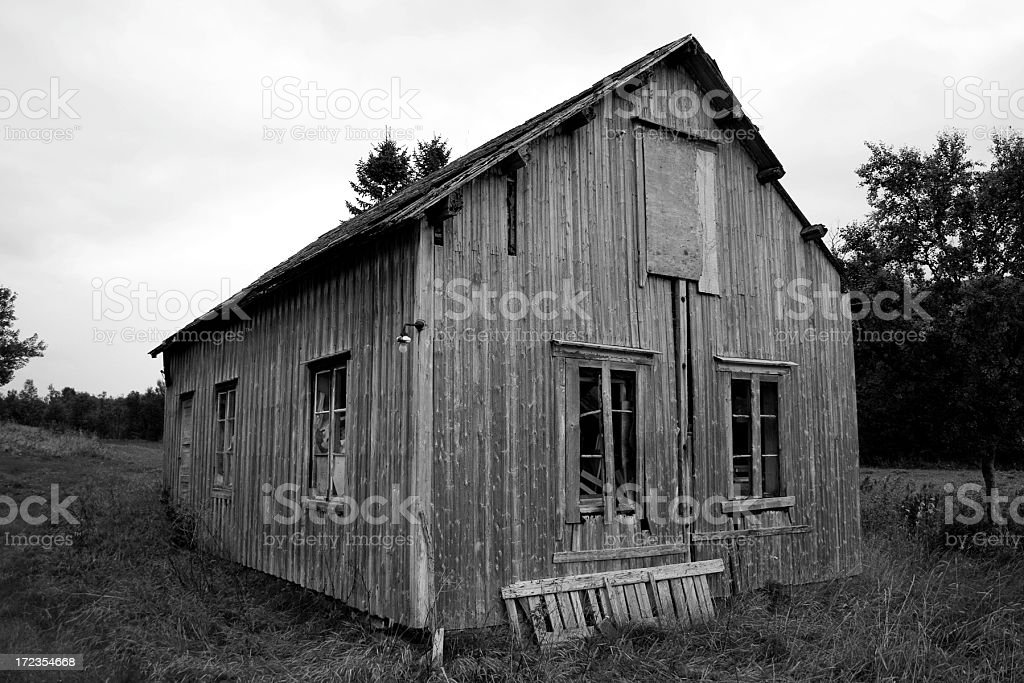 Old abandoned house in northern Norway royalty-free stock photo