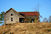 istock Old abandoned house on hill 97624822