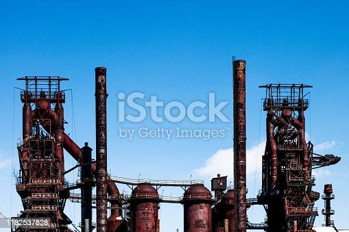 Old abandoned industrial buildings. Bethlehem, Pennsylvania, USA