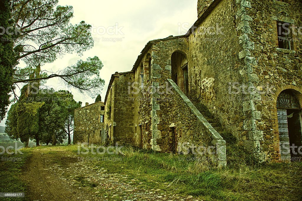 Old Abandoned Italian Farm royalty-free stock photo