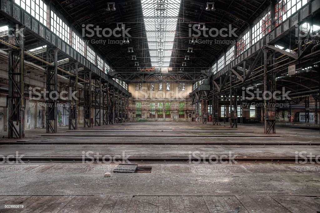 Old abandoned lost place in eastern Germany stock photo