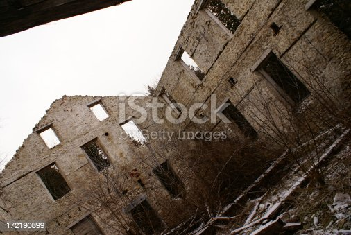 Photo of a hundred year old abandoned mill.Related Images: