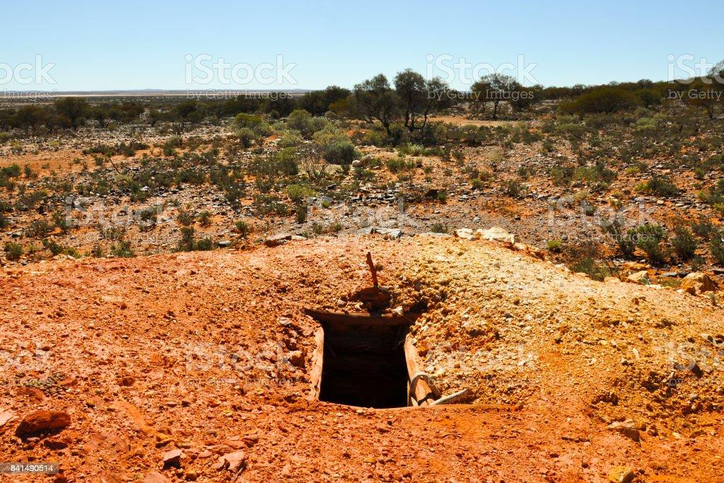 Old Abandoned Mine Shaft stock photo