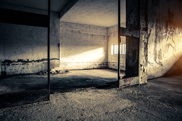 old abandoned place with beautiful sunlight - desolated stock pictures, royalty-free photos & images
