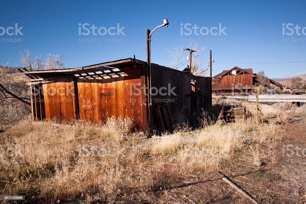 Old abandoned shack stock photo