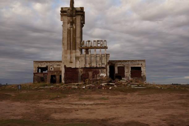 old abandoned slaughterhouse in epecuen - город призрак стоковые фото и изображения