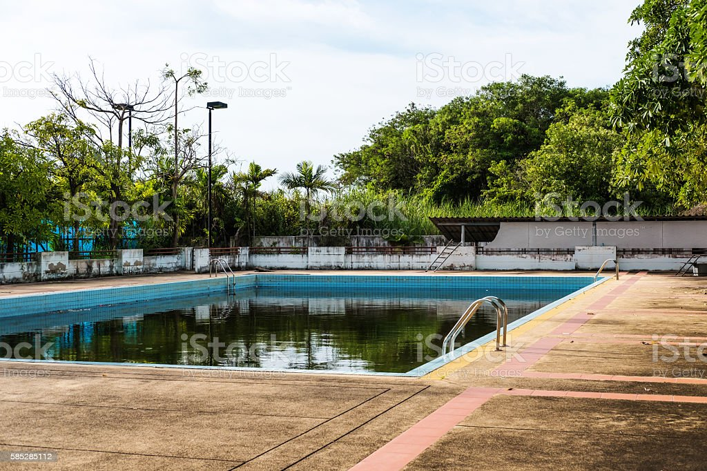 Old Abandoned Swimming Pool With Dirty Water Stock Photo Download Image Now Istock