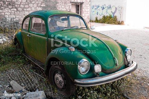 istock Old abandoned Volkswagen Beetle. 1300947098