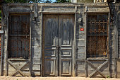 istock Old abandoned weathered wooden house 1206088904