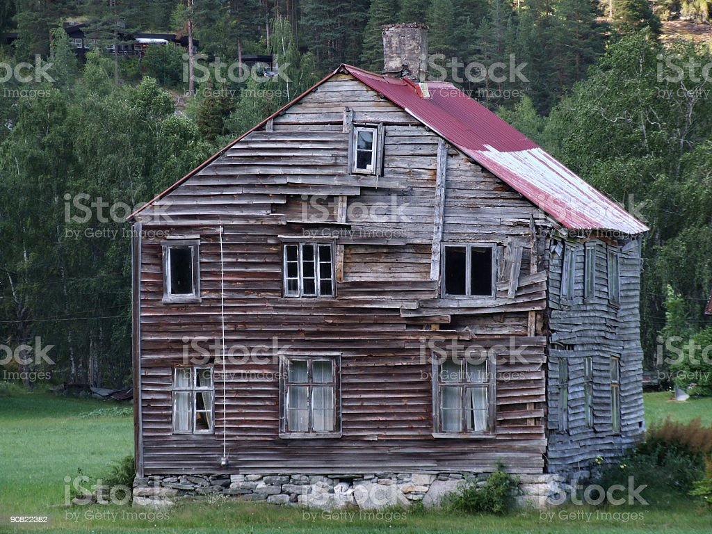 Old abandoned wooden house royalty-free stock photo