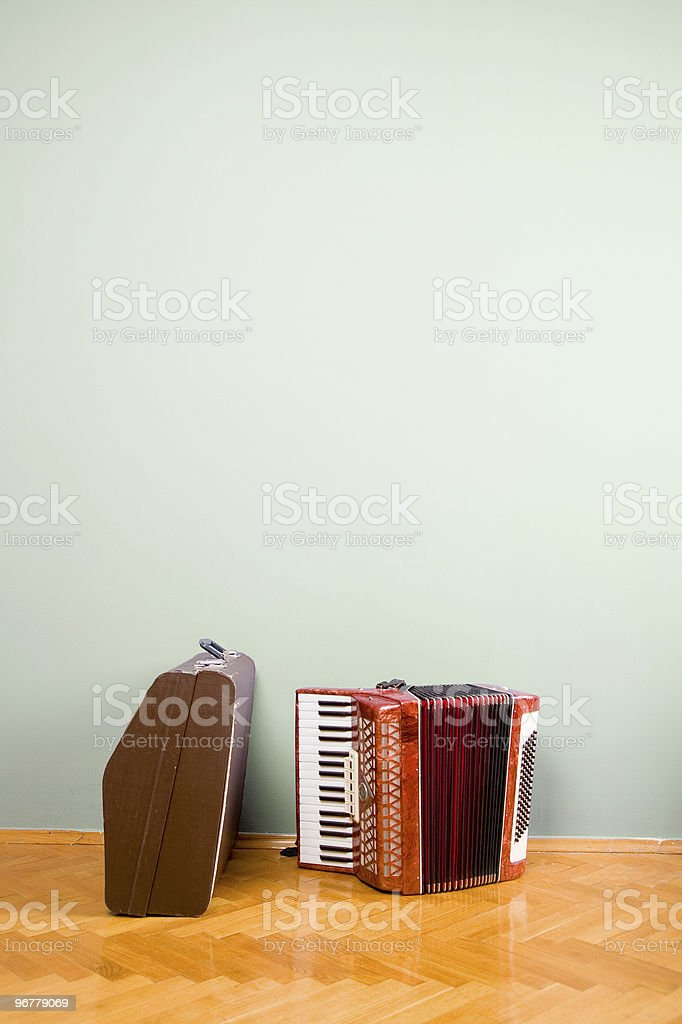 Old accordion royalty-free stock photo