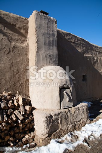 Adobe oven and fire wood