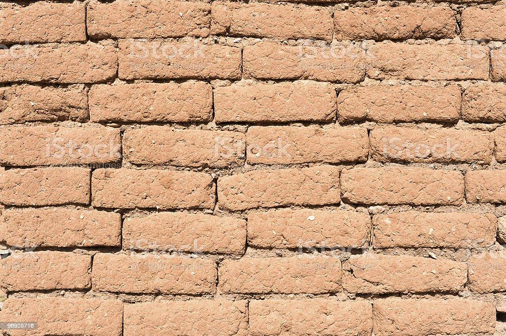 Old adobe wall. royalty-free stock photo