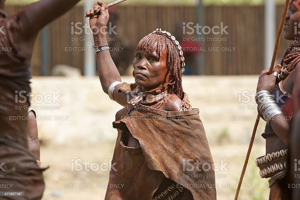 Old african woman royalty-free stock photo