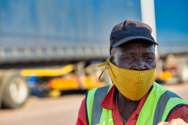 Old African worker