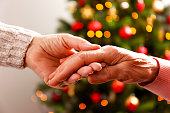 istock Old age woman at home on Charistmas eve. 1071063378