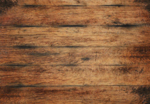 Old aged brown wooden planks background texture stock photo